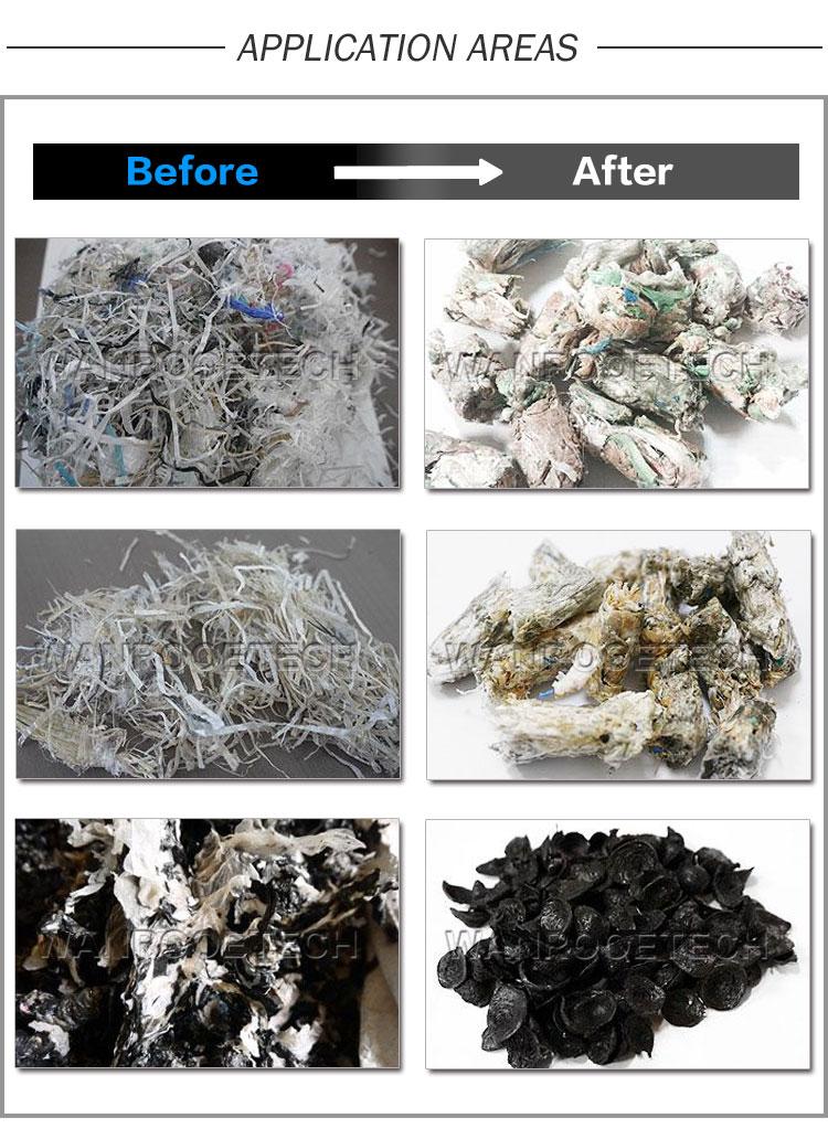 Plastic Film Recycling, Plastic Film Pelletizer, Plastic Squeezing Drying Pelletizer, PP PE Film Squeezing Dewatering Pelletizing