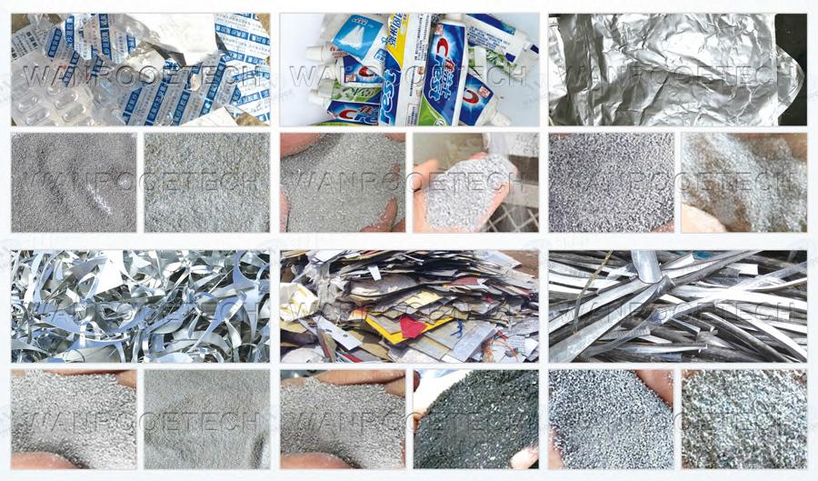 aluminum  plastic recycling machine application