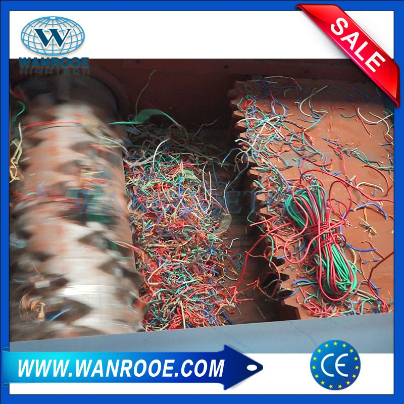 Scrap Copper Cable Wire Recycling Shredder Machine For Sale