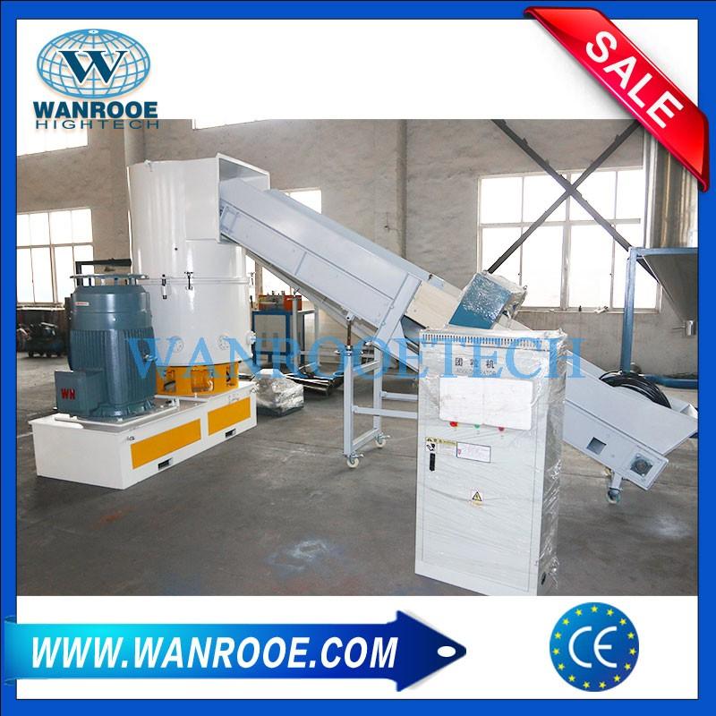 Scrap Non Woven Disposable Diapers Sanitary Napkin Agglomerator Compactor Machine