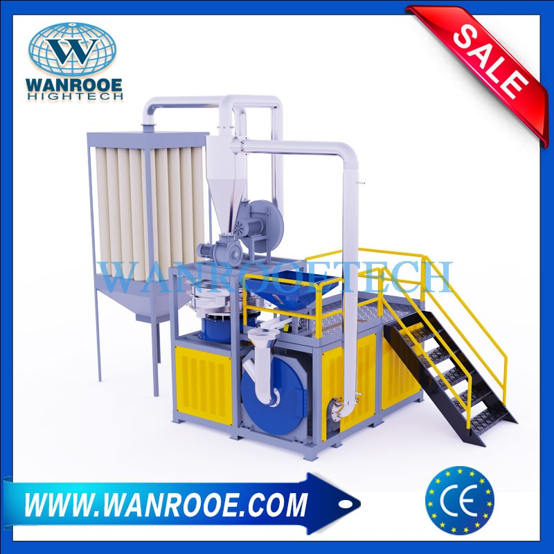 PVC Cable Crushed Material Grinder Pulverizer Mill Machine