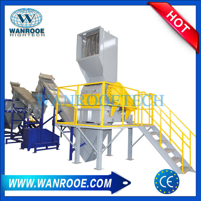 HDPE PP Hard Plastic Grinding And Washing Line