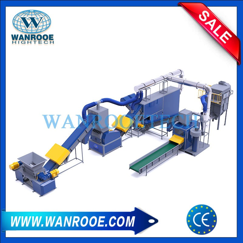 Automatic copper and aluminum radiator recycling machine