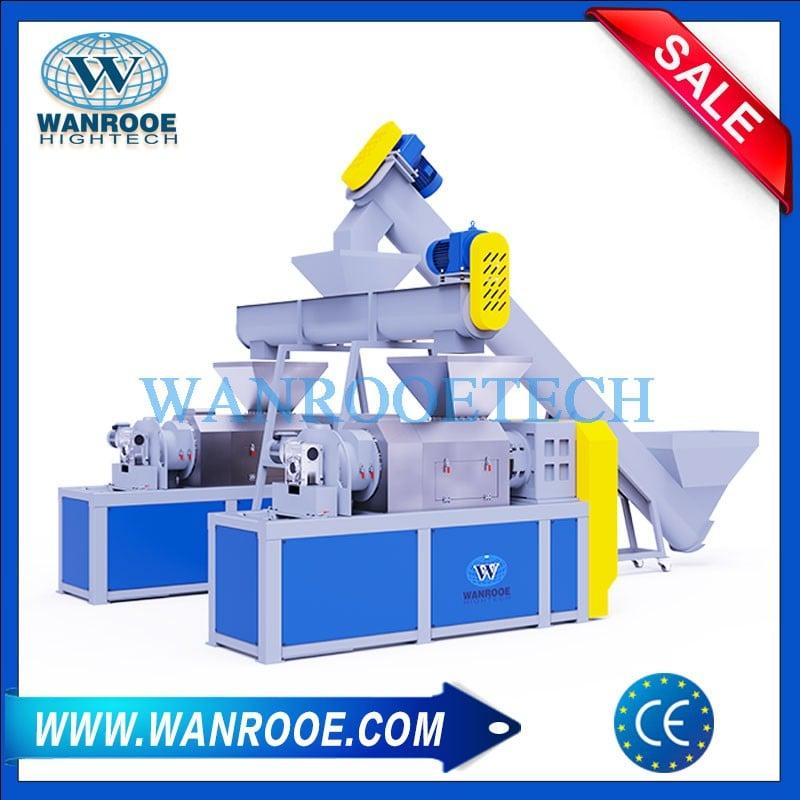 PP PE Plastic Film Squeezing Pelletizing Granulating Machine