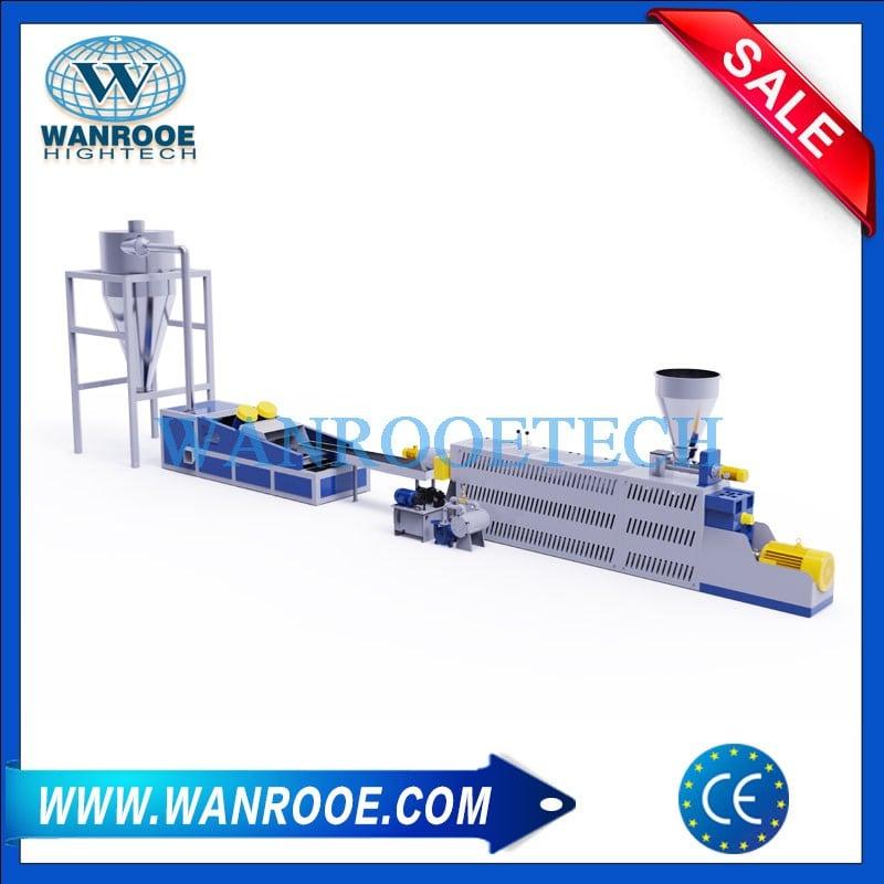Used HDPE BOPP LDPE LLDPE Plastic Pelletizer Granulator Machine
