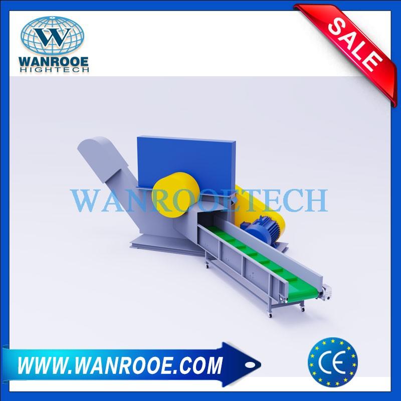 Large HDPE PP PE PVC Plastic Pipe Horizontal Crusher Granulator Machine
