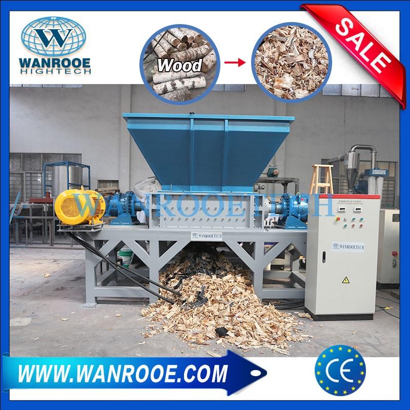 Double Shaft Industrial Used Pallet Shredder Machine For Sale