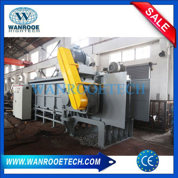 Large Diameter PVC HDPE Corrugated Pipe Horizontal Shredder Machine