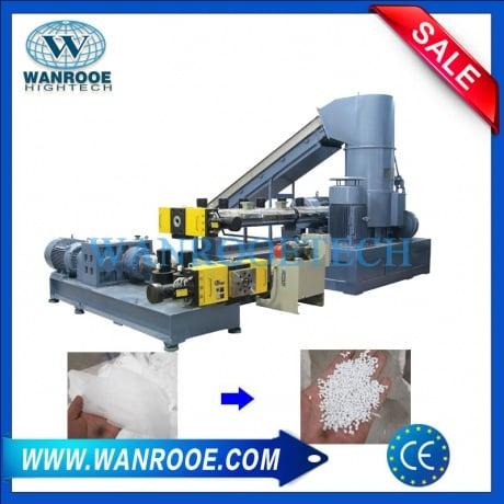 PP PE Plastic Film Double Stage Pelletizing Granulating Machine