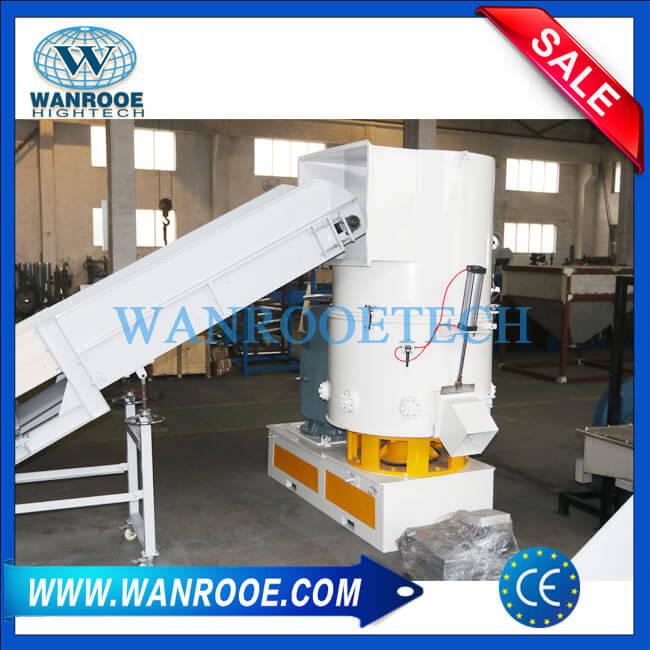 Soft PVC PE PS PP Plastic Film Agglomerator Densifier Pelletizing Machine