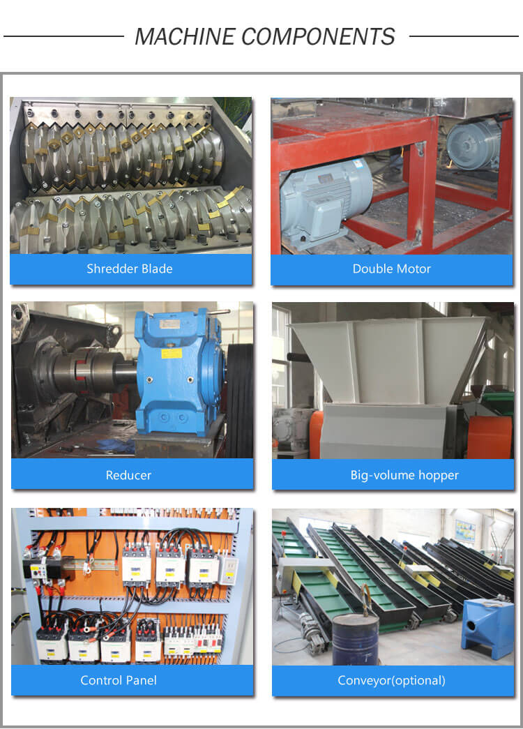 Double Single Shaft Shredder components