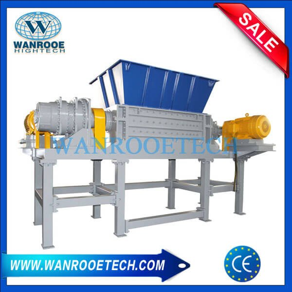 Industrial Wood Recycling Machine Double Shafts Wood Tray Shredder Machine