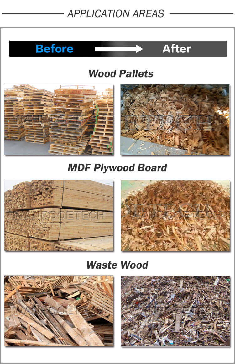 Waste Wood Shredder, MDF Plywood board shredder, Wood Pallet Shredder, Wood shredder machine, wood shredder machine price
